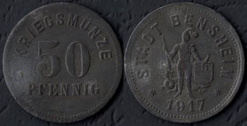 Бенсхайм 50 пфеннигов 1917