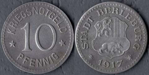 Берлебург 10 пфеннигов 1917
