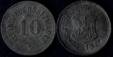Бинген 10 пфеннигов 1918