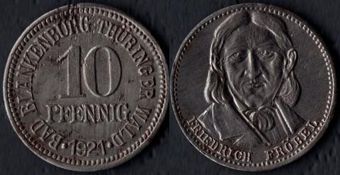 Бланкенбург 10 пфеннигов 1921