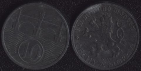 Богемия и Моравия 10 хеллеров 1942