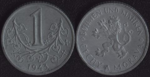 Богемия и Моравия 1 крона 1943