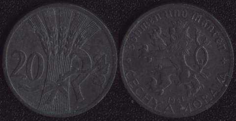 Богемия и Моравия 20 хеллеров 1941