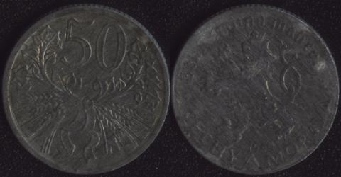 Богемия и Моравия 50 хеллеров 1940