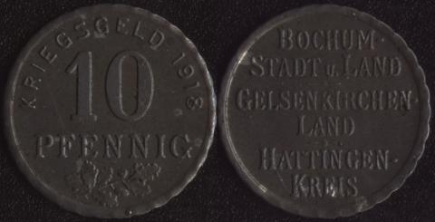 Бохум 10 пфеннигов 1918
