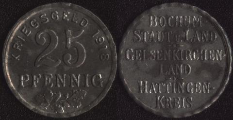 Бохум 25 пфеннигов 1918