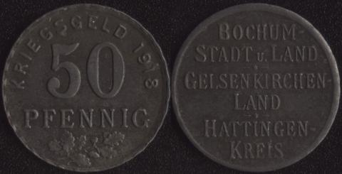 Бохум 50 пфеннигов 1918
