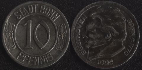 Бонн 10 пфеннигов 1920