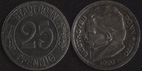 Бонн 25 пфеннигов 1920