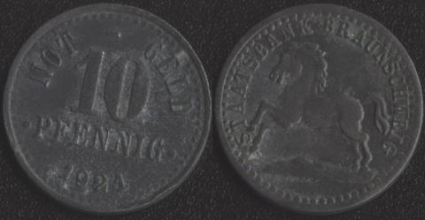 Брауншвейг 10 пфеннигов 1921
