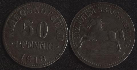 Брауншвейг 50 пфеннигов 1918