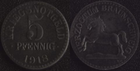 Брауншвейг 5 пфеннигов 1918