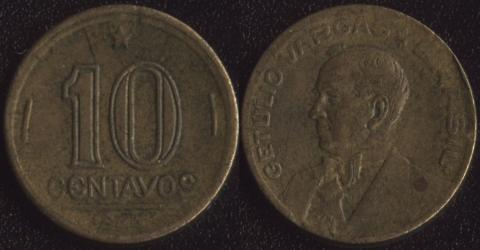 Бразилия 10 сентаво 1944