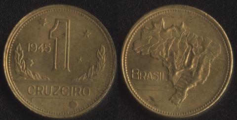 Бразилия 1 крузейро 1945