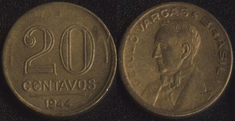 Бразилия 20 сентаво 1944