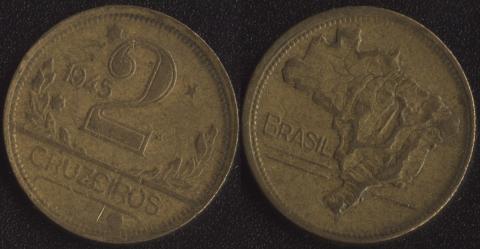 Бразилия 2 крузейро 1945