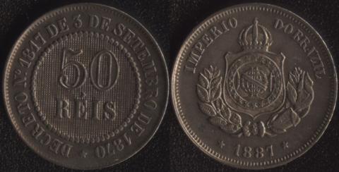 Бразилия 50 рейс 1887