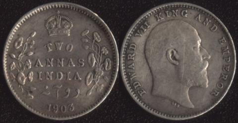 Британская Индия 2 анны 1903