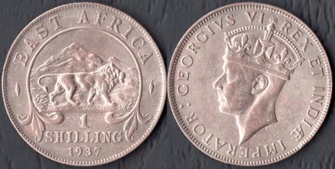 Британская Западная Африка 1 шиллинг 1937