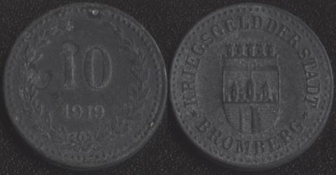 Бромберг 10 пфеннигов 1919