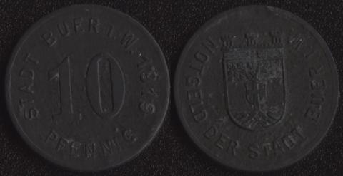 Бюэр 10 пфеннигов 1919