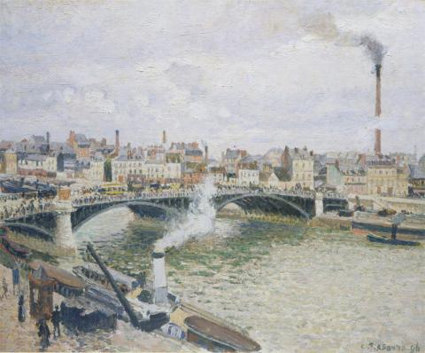 "Камиль Писсарро ""Утром в порту Руана"", 1896 год."
