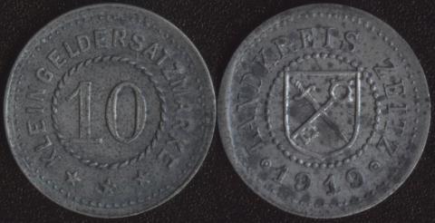 Цайтц 10 пфеннигов 1919