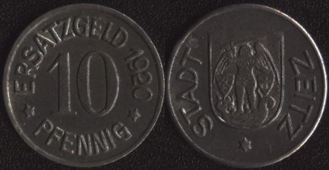 Цайтц 10 пфеннигов 1920