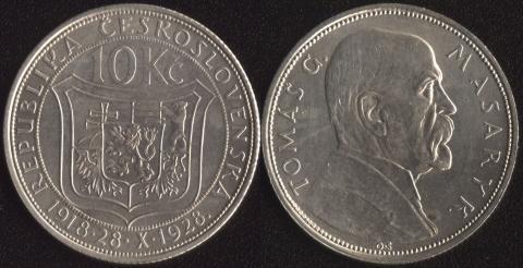 Чехословакия 10 корун 1928