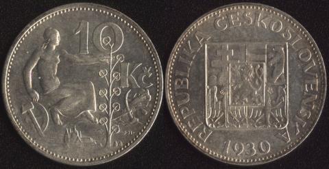 Чехословакия 10 корун 1930