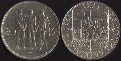 Чехословакия 20 корун 1933