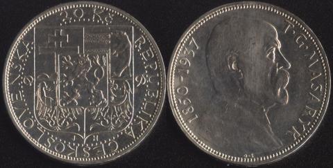 Чехословакия 20 корун 1937