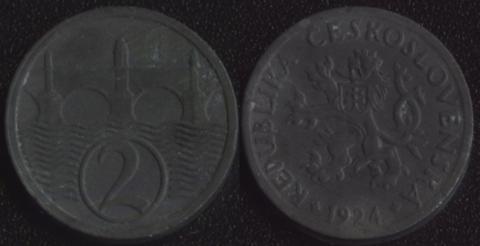 Чехословакия 2 халера 1924