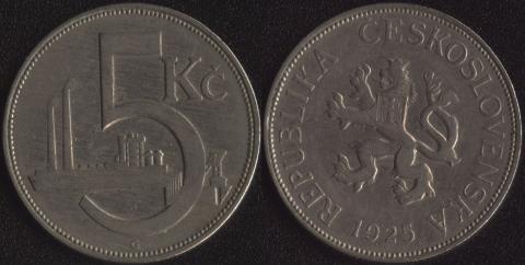 Чехословакия 5 корун 1925