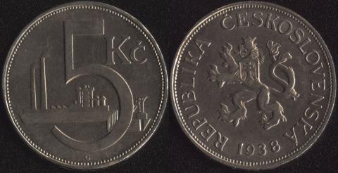 Чехословакия 5 корун 1938
