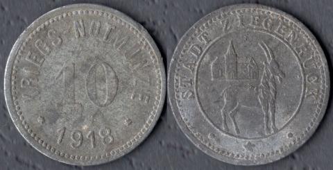 Цигенрюк 10 пфеннигов 1918