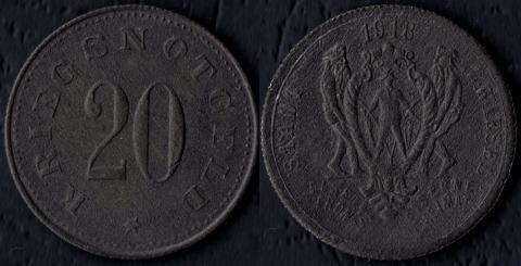 Цвисель 20 пфеннигов 1918