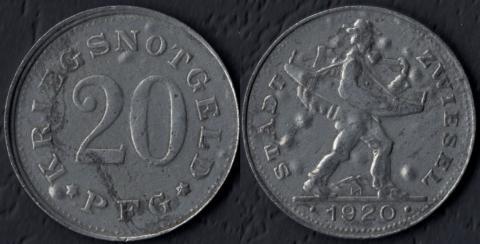 Цвизель 20 пфеннигов 1920