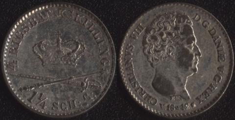 Дания 4 скиллинг ригсмонт 1842
