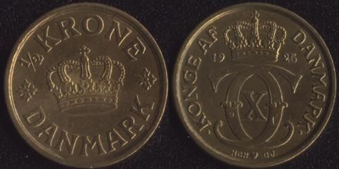Дания 1/2 кроны 1925