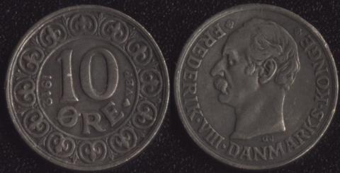 Дания 10 оре 1912