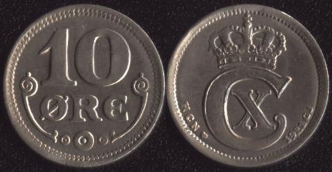 Дания 10 оре 1921