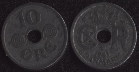 Дания 10 оре 1941