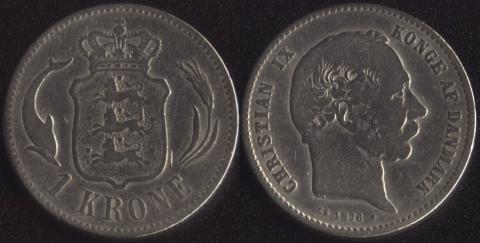 Дания 1 крона 1876