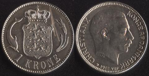 Дания 1 крона 1915