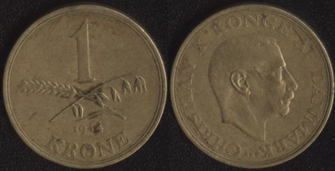 Дания 1 крона 1944