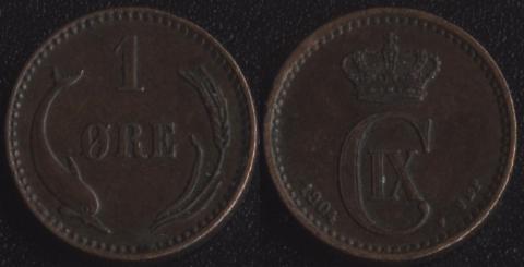 Дания 1 оре 1904