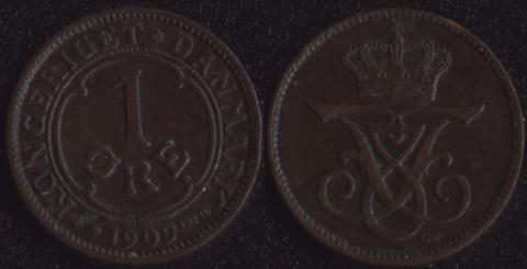 Дания 1 оре 1909