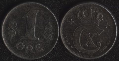 Дания 1 оре эре 1918