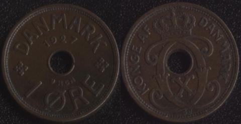 Дания 1 оре 1927